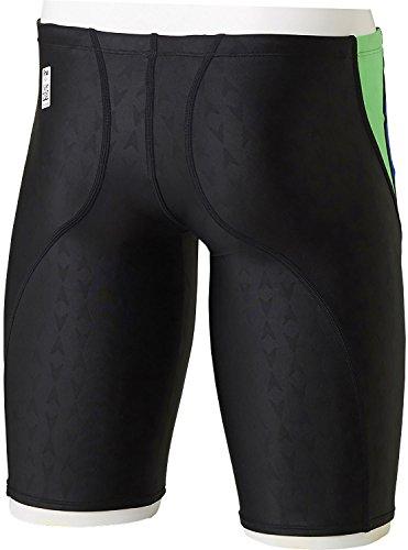 Speedo(スピード) メンズ 競泳水着 ハーフスパッツ フレックスシグマ メンズジャマー SD77C452 GB (フラッシュグリーン×ロイヤルブルー) L
