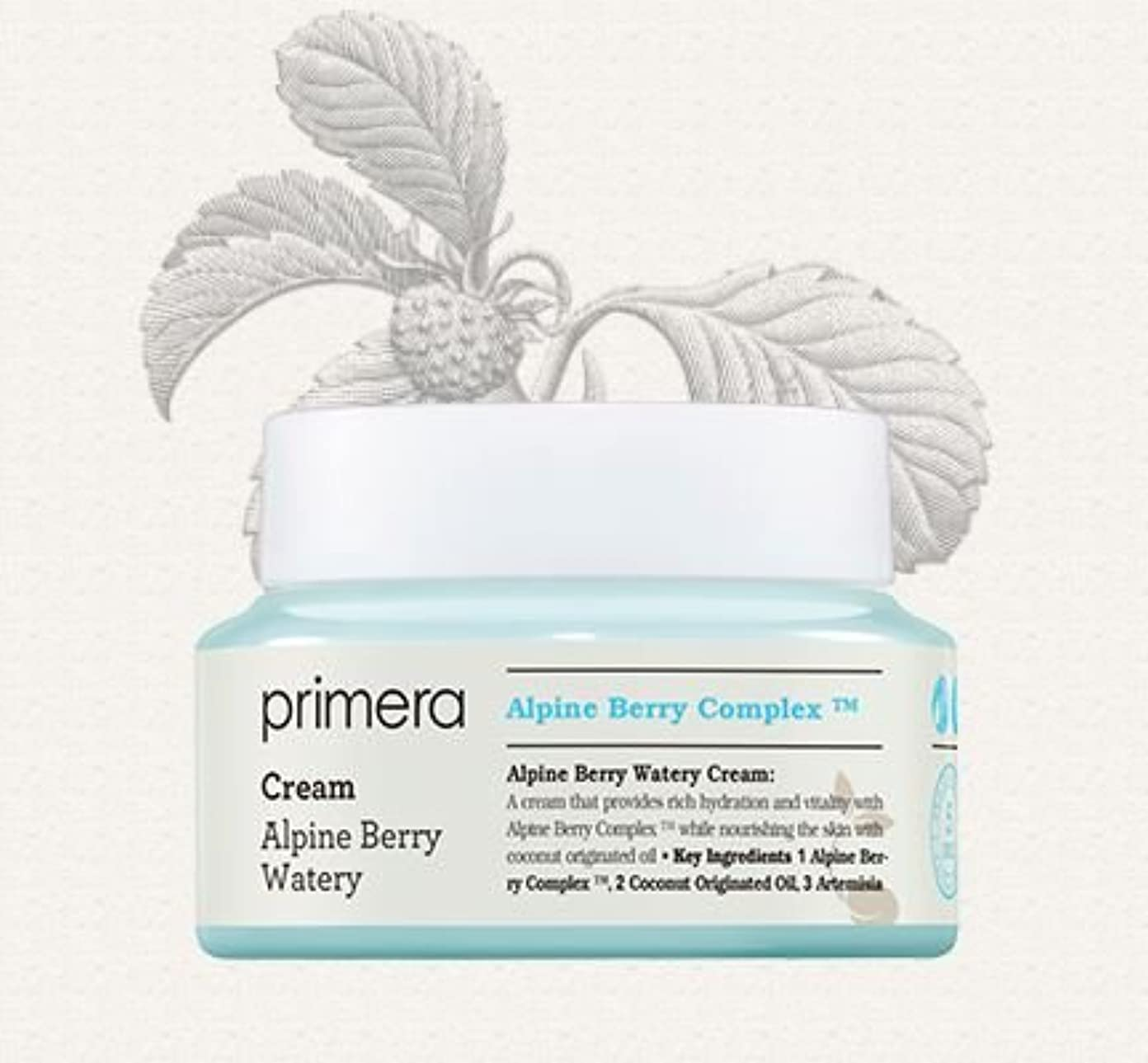 収穫縮れた外部[Primera] Alpine Berry Watery Cream 50ml/[プリメーラ] アルパインベリーウォーターリークリーム50ml [並行輸入品]