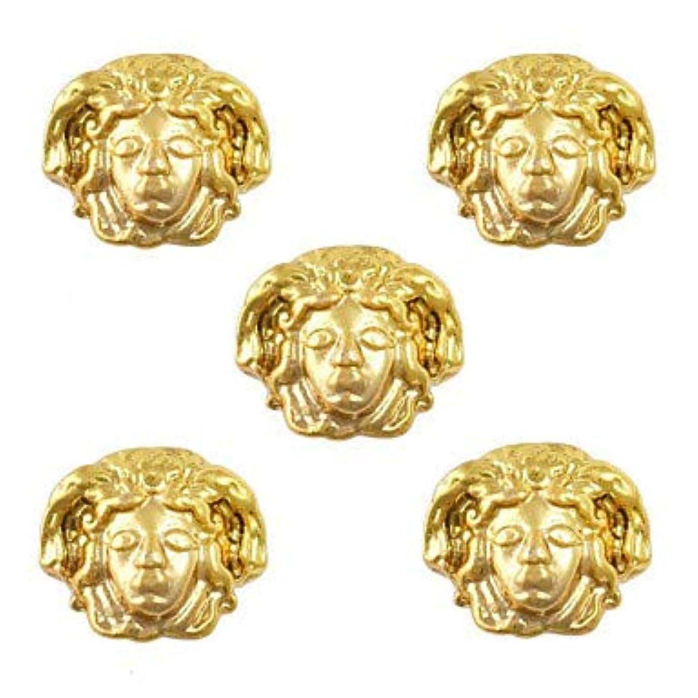 ブロッサムシンジケート現実的美容エジプトスタイルゴールドネイルチャーム3Dメタルネイルアートデコレーションアクセサリー用品ツール