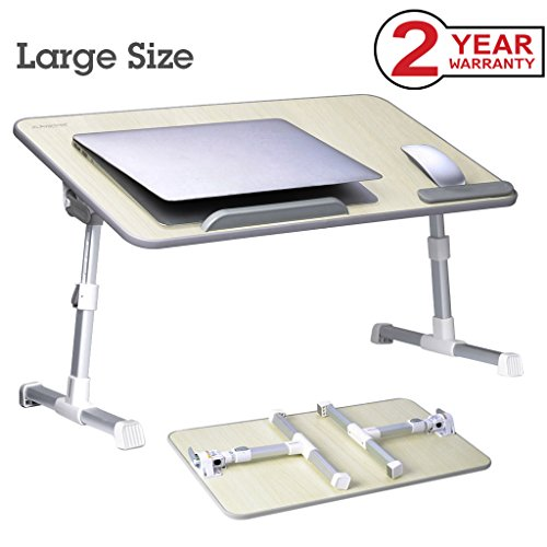(Beige) - [Large Size] Adjustable Laptop Bed Coach Table, Portable Standing Desk, Foldable Sofa Breakfast Tray, Notebook Stand Reading Holder for Couch (Beige) - Avantree Minitable L