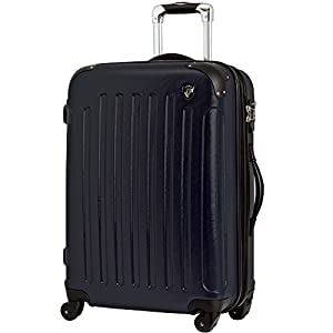 TSAロック搭載 スーツケース キャリーバッグ newFK10371 ネイビー M型(4~7日用) マット加工ファスナー開閉タイプ