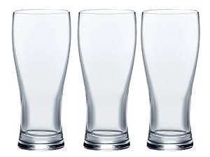 ビールグラス あじわい 340ml×3個セット J-06917-PS