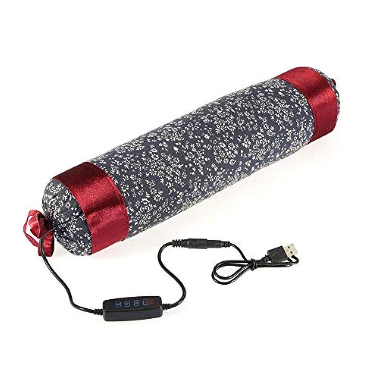 肉パイプライン導出首頸部電気枕加熱家庭用肩マッサージ痛み疲労のための枕加熱灸