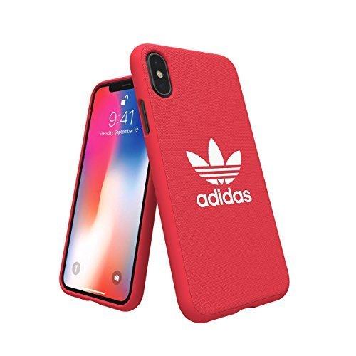 アディダスオリジナルス iPhone X/XSケース アディカラーシリーズ TPUケース レッド [adicolor Snap Case X/XS red] adidas 29945