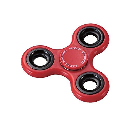 エレコム ハンドスピナー Hand spinner ストレス解消 暇つぶし 脳トレ おもちゃ 3枚羽 樹脂素材 レッド HT-HS3PRD