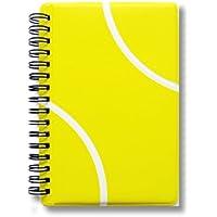 テニスノート 作戦ノート テニスボール柄 リングタイプ【A6サイズ】