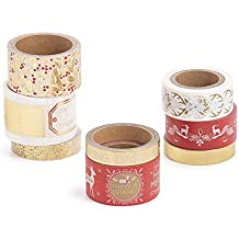 Martha Stewart Washi Tape-Christmas Cheer Traditional Assorted