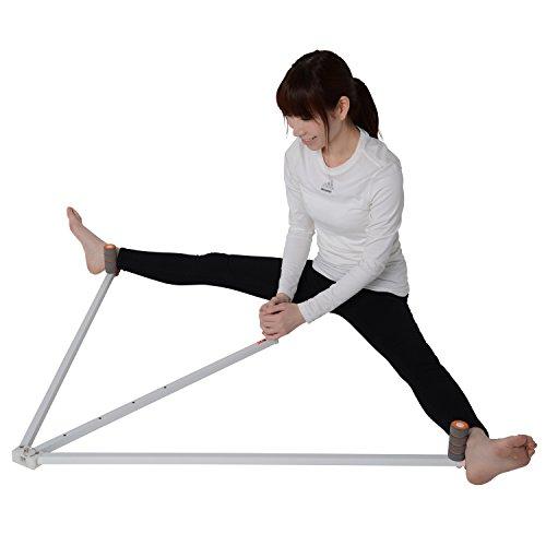 Trend Mart【床が傷つかない】レッグストレッチャー 股割り 開脚 ストレッチ 器具 股関節 柔軟 体操 (ホワイト)