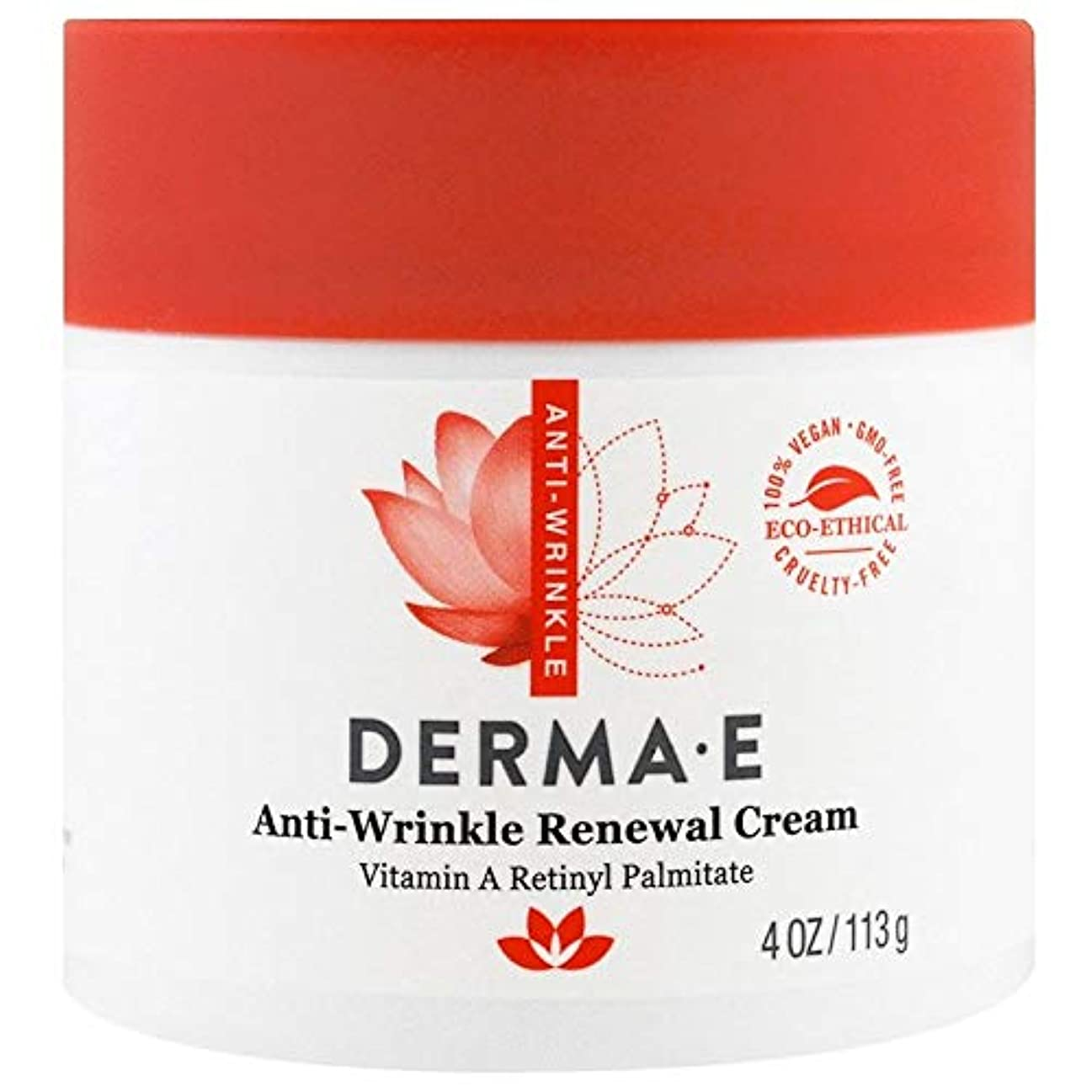 願う人種リンケージDerma E, Anti-Wrinkle Vitamin A Retinyl Palmitate Cream, 4 oz (113 g)X 4 パック並行輸入品