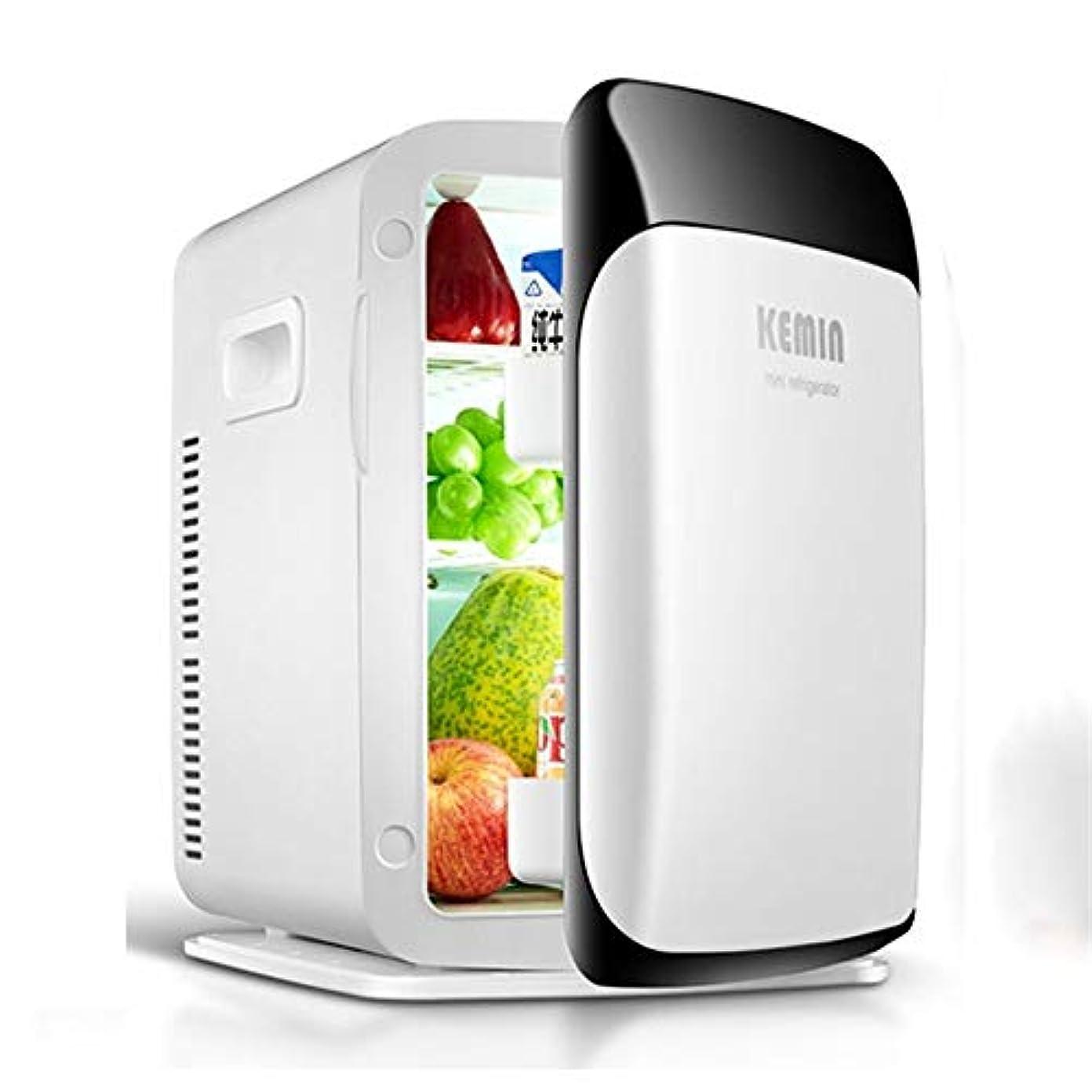 変色する会議版15リットルミニ冷蔵庫車冷蔵庫ポータブルデュアルコア冷凍/暖房冷蔵庫(色:ホワイト)