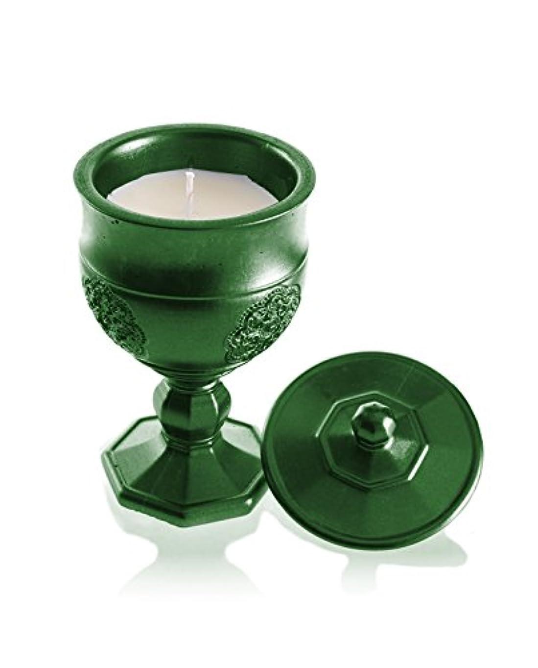 ボイドあえて木製Candellana Candles キャンドルフォート コンクリートキャンドル グラールグリーンメタリック 香り:レモングラス