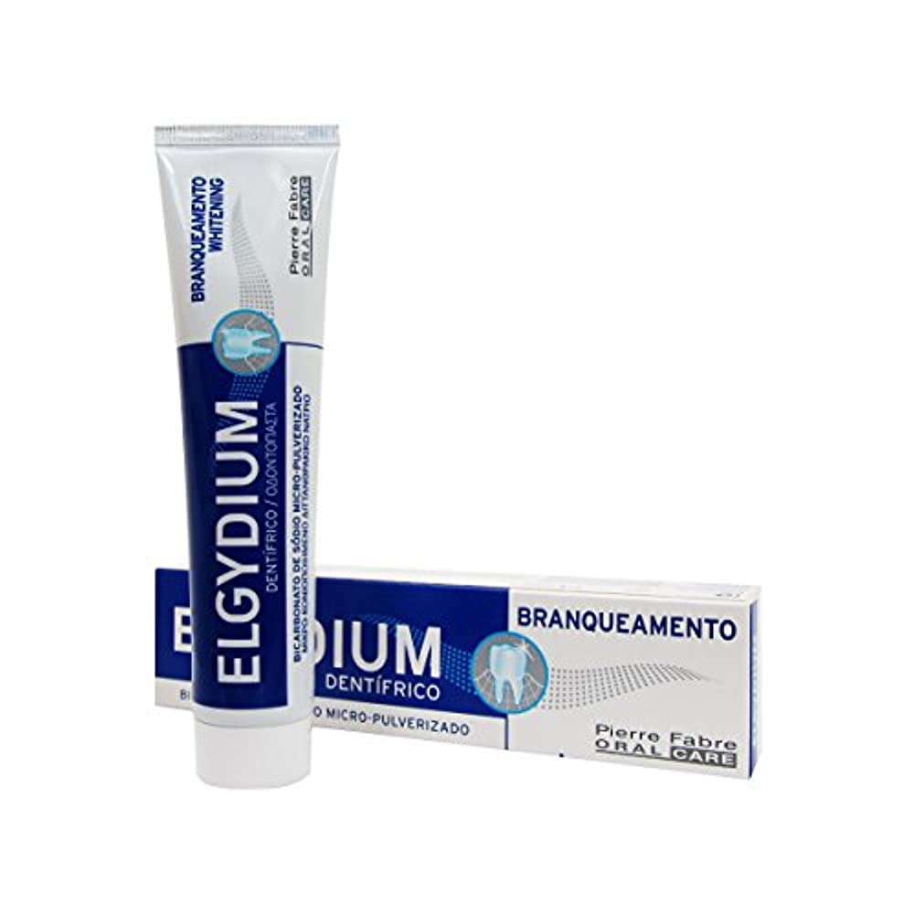 それしっとり飼い慣らすElgydium Whitening Toothpaste 75ml [並行輸入品]