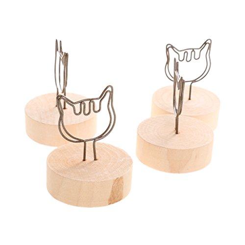 [해외]노 명품 고양이 모양 결혼식 장소 카드 홀더 그림 테이블 이름 클립 우드베이스 10 개/No brand name cat shape wedding place card holder picture table name clip wood base 10 pieces