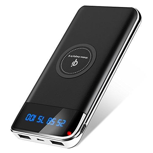 Delitoo モバイルバッテリー Qi ワイヤレス充電 12...