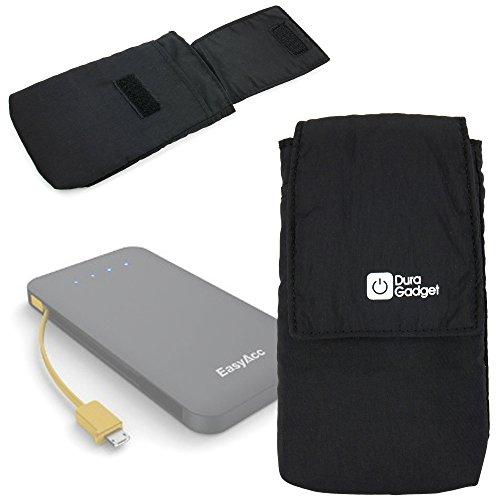 DURAGADGET ブラックソフトケース - EasyAcc 15600mAh 大容量2A入力電源/ポータブルWiFiルーターWiFiリピーター12000mAh/USB 3.5A/EasyAcc 10000mAh デュアルUSB3.1A