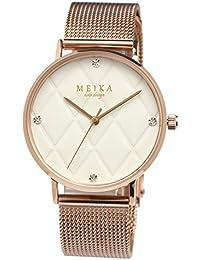 [メイカ]MEIKA 腕時計 レディース 人気 ブランド ウォッチ 36mm キルティング文字盤