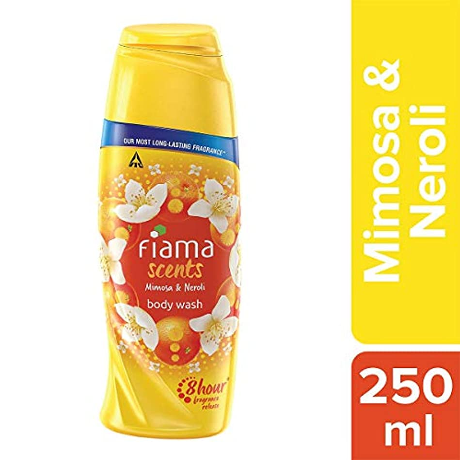 広がり日帰り旅行に操縦するFiama Scents Mimosa and Neroli Body Wash, 250 ml