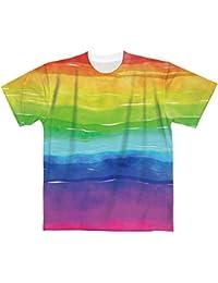 Rainbow【フルグラフィックTシャツ】 カジュアル フルカラー ドライ素材 格安