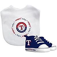 Baby Fanatic Bib with Pre-Walkers, Texas Rangers by Baby Fanatic [並行輸入品]