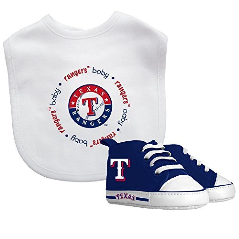 Baby Fanatic Bib with Pre-Walkers, Texas Rangers by Baby Fanatic [並行輸入品]