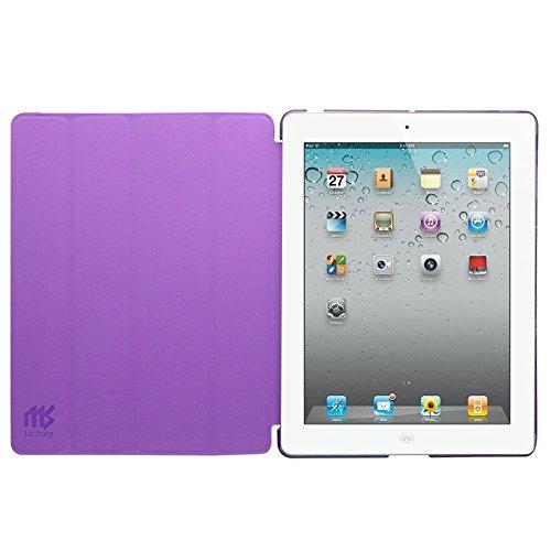MS factory iPad2 iPad3 iPad4 スマート カバー バック ケース 一体型 オートスリープ iPad 2 3 4 スタンド ケースカバー 全11色 バイオレット パープル 紫 IPD-SMART-VIO