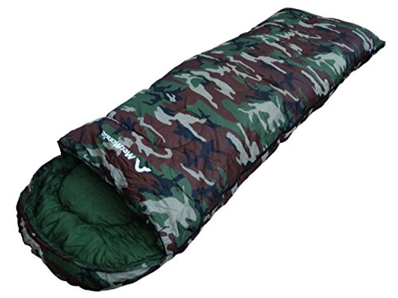 座標過半数フィクションMerMonde (メルモンド) 寝袋 コンパクト 封筒型 [ アウトドア/キャンプ/防災 ] シュラフ 春夏秋冬 オールシーズン [最低温度-10℃] 丸洗い可能 収納袋付き