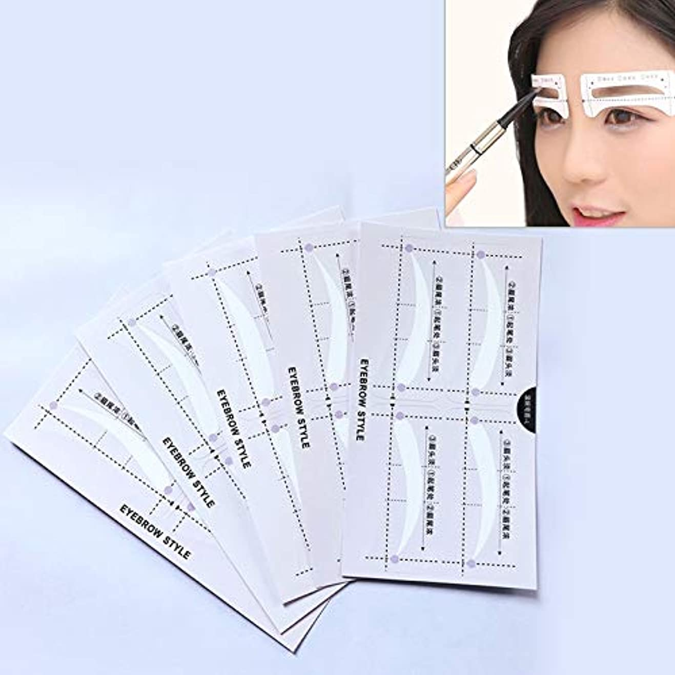 シソーラスネズミにじみ出る美容アクセサリー 10ペア眉ステンシル形状テンプレート化粧ステッカー 写真美容アクセサリー