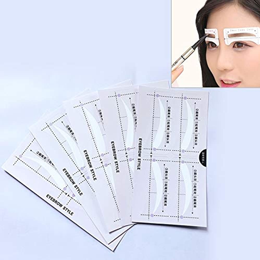 過度にでる特別に美容アクセサリー 10ペア眉ステンシル形状テンプレート化粧ステッカー 写真美容アクセサリー