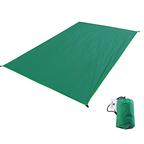 GEERTOP テントシート 軽量 防水 両面シリコナイジング キャンプ 登山 ピクニック グランド マット 1~4人に適用 (グリーン, L (130 x 210 cm))