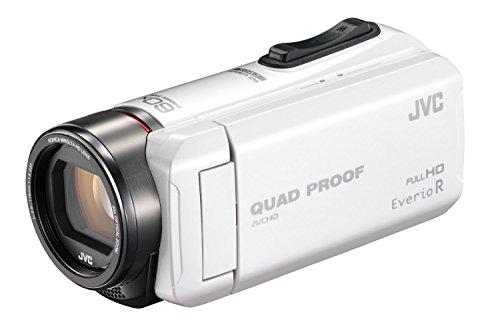 JVC ビデオカメラ Everio R 防水5m 防塵仕様 耐低温 耐衝撃 内蔵メモリー32GB パールホワイト GZ-R400-W