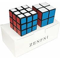 ZENFNI スピードキューブ 立体パズル 2個セット 2x2x2 3x3x3 競技専用 ver.2.0 世界基準配色 回転スムーズ スクラブ 滑り止め 防塵 生涯保証