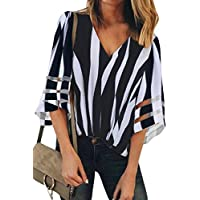 TIMEE Women's Sexy Sheer Long Sleeve Chiffon Blouses Tops Button Down Shirts S-XXL