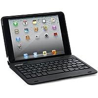 【マーサ・リンク】F1 iPad mini初代/mini2/mini3通用 Bluetooth ワイヤレス キーボード ハード ケース ノートブックタイプ (ブラック、シルバー、ピンク、レッド)4カラー選択 F1 ABS Case Keyboard for iPad mini2/mini3 7.9 with iPad mini (iPad mini1/2/3, ブラック)