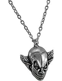 Alchemy GothicメタルペンダントネックレスAlchemy Gothic M 'era Luna Evil Clownペンダント/ネックレス1.5 X 1.25 X 0.38インチシルバーモデル# p784