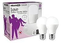 MiracleLED Nature 's Vibe Love Emotion強度照明LEDライト電球 2 Pack 606904 2