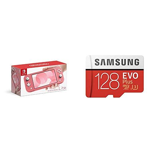 Nintendo Switch Lite コーラル+Samsung microSDカード128GB セット