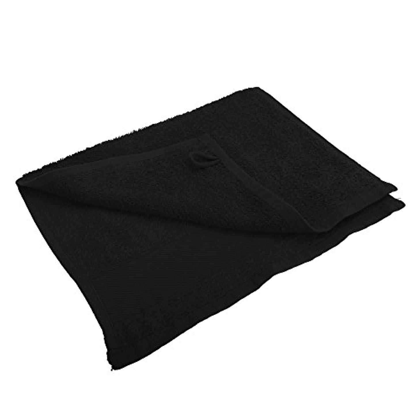 エキスパート標準頭痛(ソールズ) SOLS アイランド 30 コットン 綿100% ゲストタオル (30 x 50cm) (ワンサイズ) (ブラック)