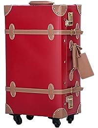 TANOBI トランクケース キャリーバッグ SS機内持込可 手作り 復古主義 修学旅行 ネームタグ レトロ おしゃれ かわいい 13色4サイズ(一年安心保証)