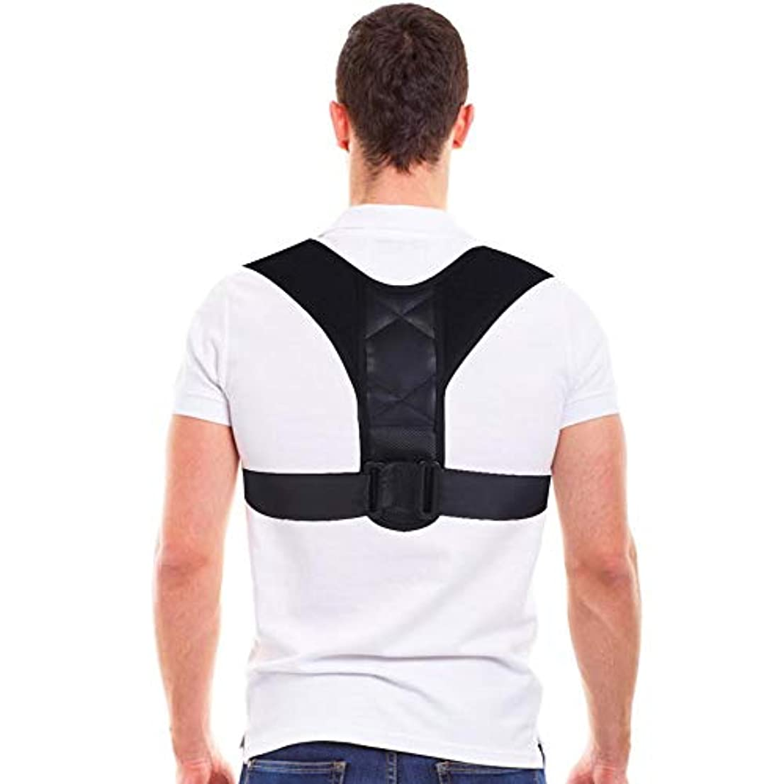 限りロック解除火山学コレクター姿勢バックサポートベルト、8字型デザインの調節可能な鎖骨装具バンド、男性と女性の姿勢、腰痛予防、腰痛予防