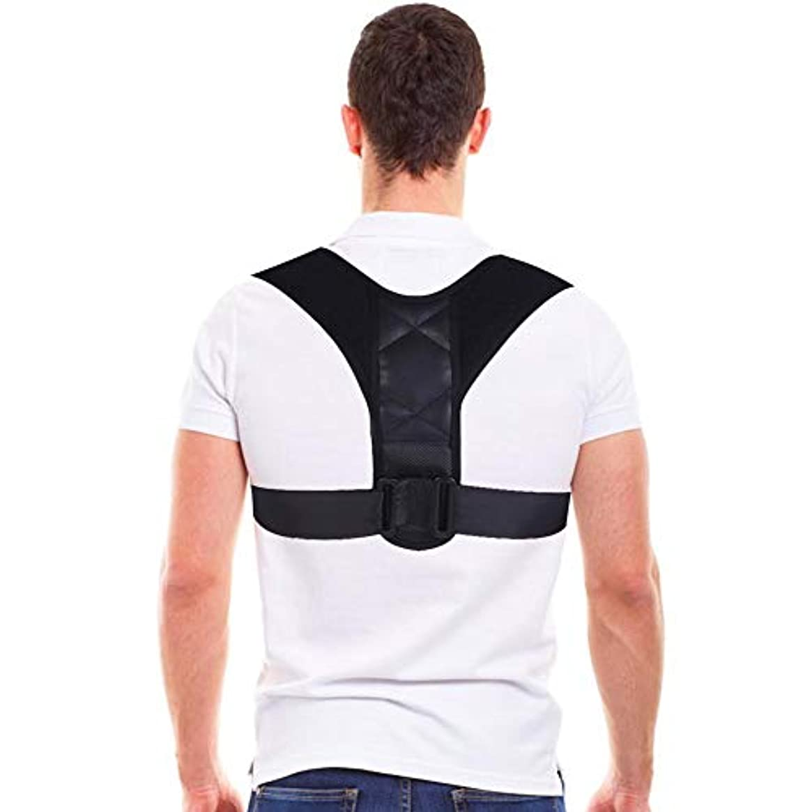 スマッシュクライストチャーチそれによってコレクター姿勢バックサポートベルト、8字型デザインの調節可能な鎖骨装具バンド、男性と女性の姿勢、腰痛予防、腰痛予防