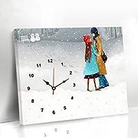 JTWJ 現代のミニマリストのリビングルームの装飾の壁時計、寝室の漫画のカップルの壁画壁画 (色 : B, サイズ さいず : 70 X 50cm)