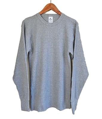 (インデラミルズ)65%コットン 35%ポリ INDERA MILLS #800 #810 サーマル Tシャツ (S, グレー) [並行輸入品]