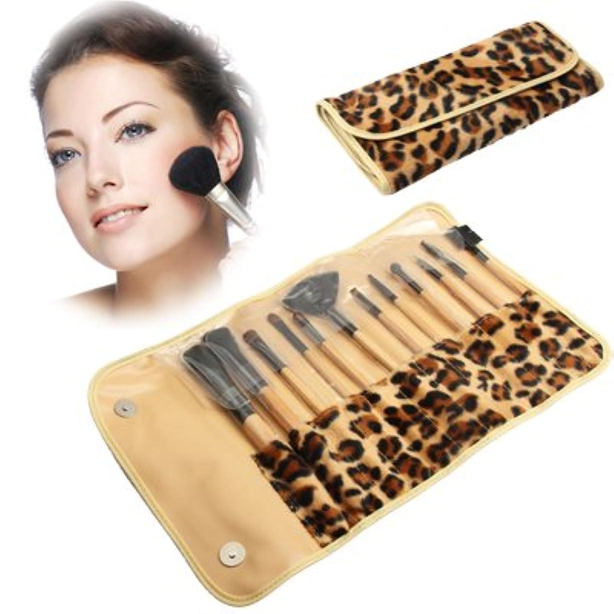 スコアピック決定的MEI1JIA QUELLIAプロフェッショナル個入りメイクブラシセット美容キット化粧品+ PUレザーキャリングケース