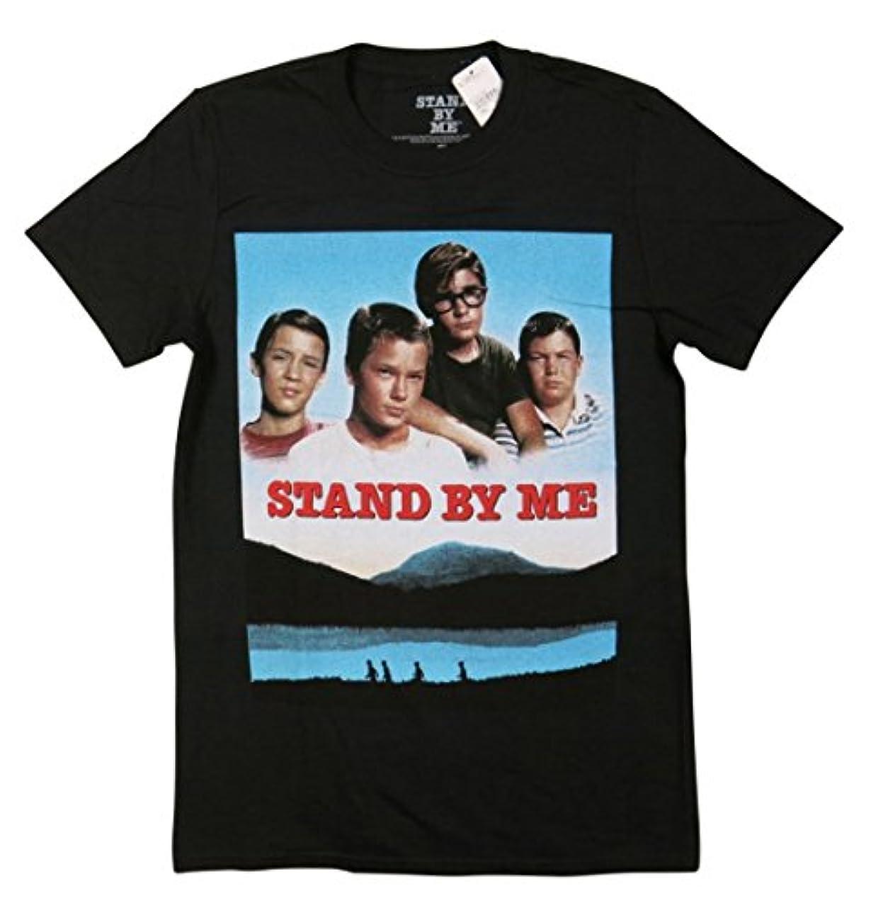 まっすぐ与える近々(スタンド バイ ミー)STAND BY ME 半袖 ムービープリント Tシャツ [並行輸入品]