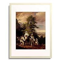 Barabas, Miklos,1810-1898 「Italienische Bauersfamilie auf dem Wege zum Markt.」 額装アート作品