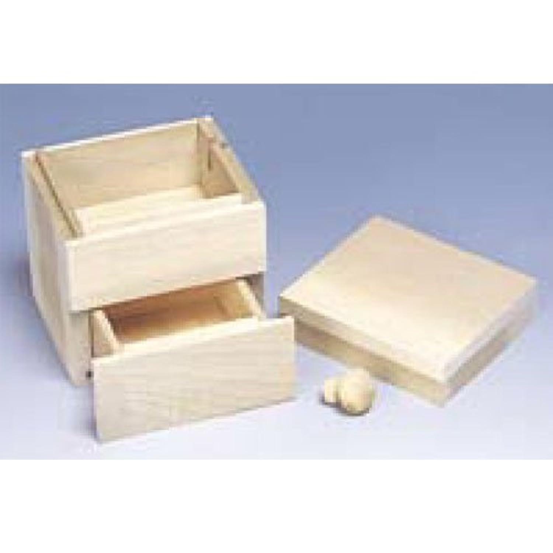 ミニ引き出しボックス【木彫?木工芸 オルゴール】BB41304