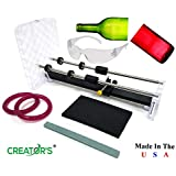 Creator's Bottle Cutter Machine DIY Cuts Glass Wine Bottles Includes Abrasive Stone CBC-USA Google Rated Number One Best in The World