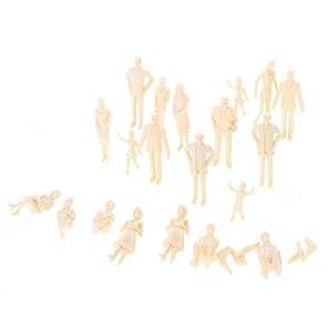 KOZEEY 1/30 約40体 風景模型用 鉄道模型 人形 未塗装 フィギュア 塗装なし 装飾  3.2-5.8センチメートル