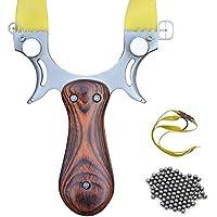 Tongtu Outdoor スリングショット ファルコン スポーツパチンコ 替えゴム 強力 狩猟 競技用のゴム弓 ステンレス材 機械的な照準銃