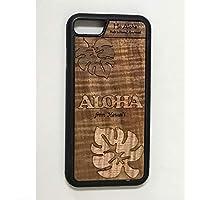 iPhone 8 / 7 カバー 【モンステラ 】 ハワイ スマホ ケース 【 Ho Aloha 】 ハワイアン コアウッド アイフォンケース